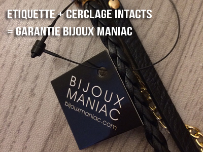 garantie bijoux maniac