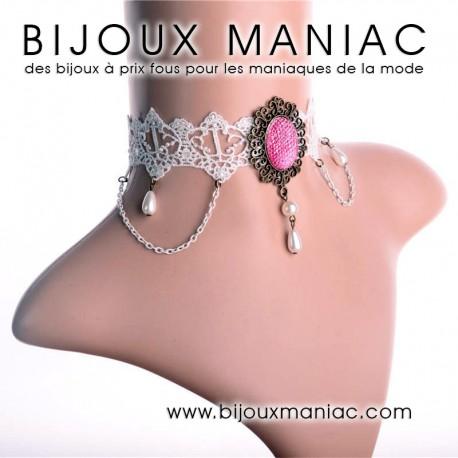 Collier romantique perle