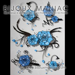 Tatoo Roses bleues