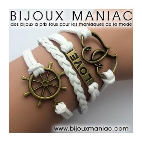 Bracelet multirang Love Marine