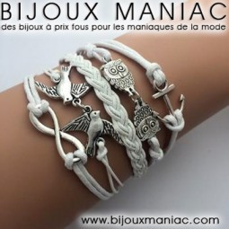 Bracelet multirang Ancre Infini