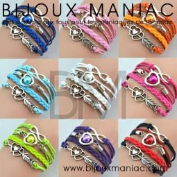 Bracelet multirang Amour Infini