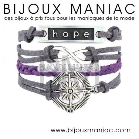 Bracelet multirang Marine Hope