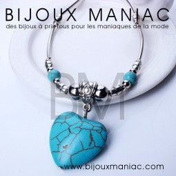 Collier Turquoise Coeur