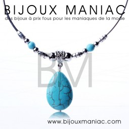 Collier Turquoise Goutte