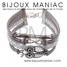 Bracelet multirang Chouette Infini