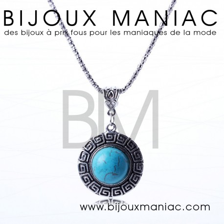 Collier Turquoise Cercle