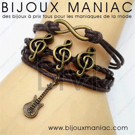 Bracelet multirang Guitare