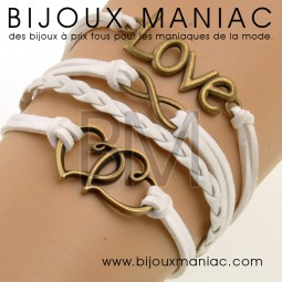 Bracelet multirang Love Coeurs