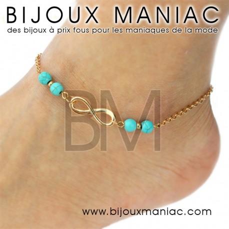 Bracelet cheville Infini