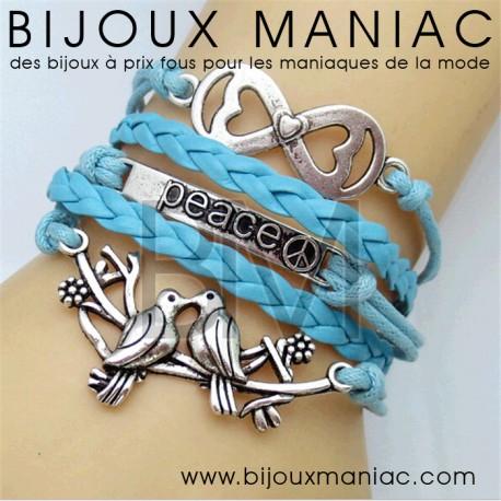 Bracelet multirang Love Peace