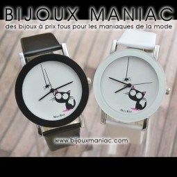 Montre chat toile bis