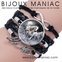 Bracelet multirang Cheval