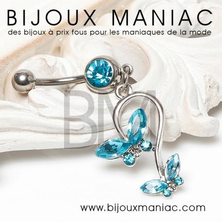 Piercing Papillon bleu
