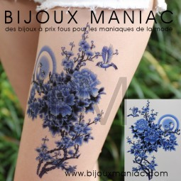 Tattoo Japon bleu