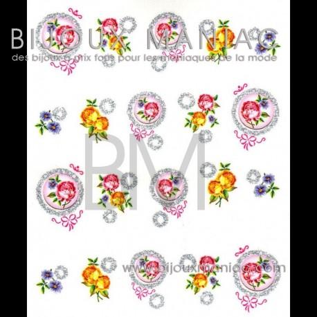 Déco ongle Fleurs variées