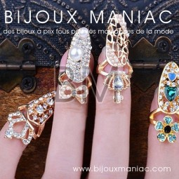 Ongle bague strass