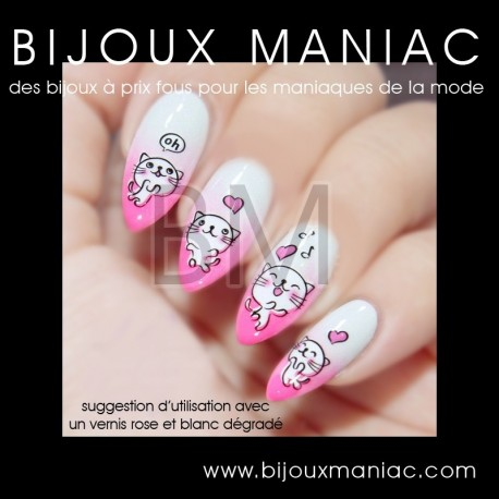 Déco ongle Chats 927