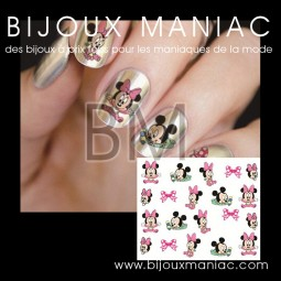 Déco ongle Minnie Mickey
