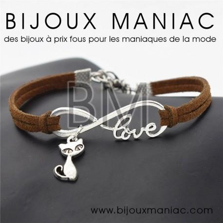 Bracelet lien chat