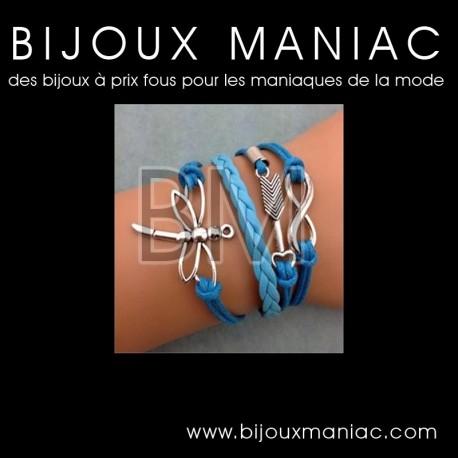 Bracelet multirang Libellule Flèche