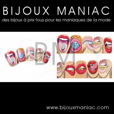 Déco ongle bouches