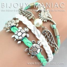 Bracelet multirang Hippocampe Tortue