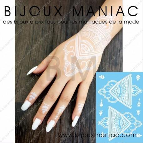 Tattoo main blanc