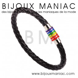 Bracelet tresse LGBT