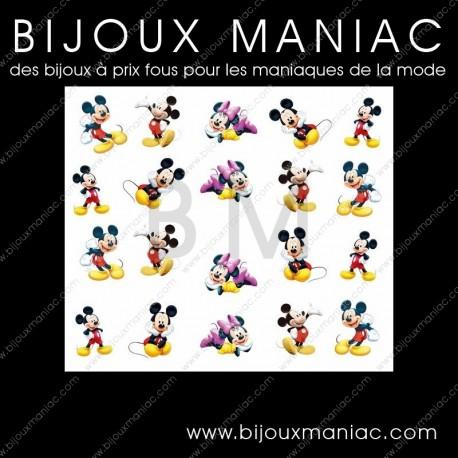 Déco ongle Minnie et Mickey