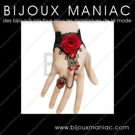 Bague bracelet Flora