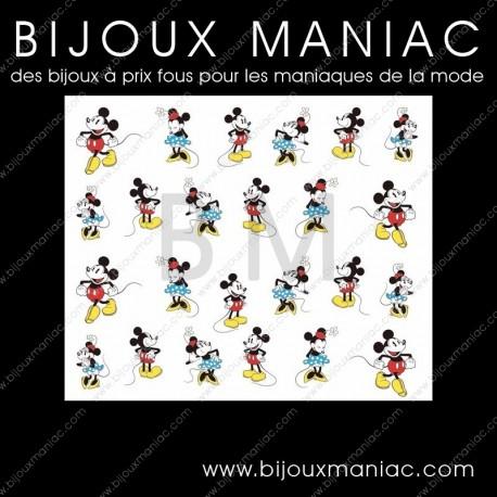 Déco ongle Mickey Minnie