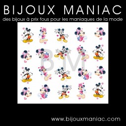 Déco ongle Mickey Minnie