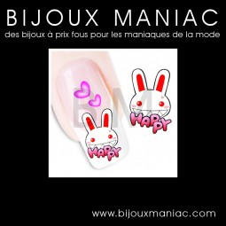 Déco ongle Lapins