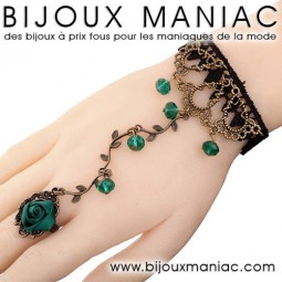 Bague bracelet romantique