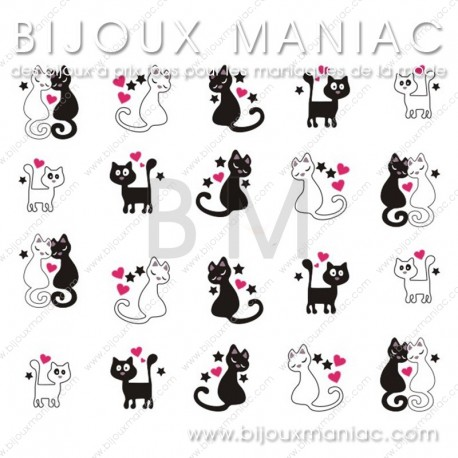 Déco ongle chat