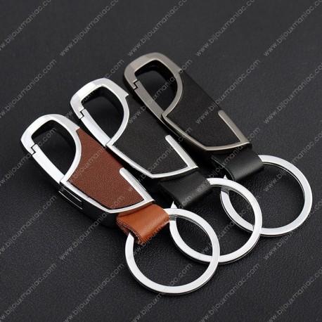 Porte-clefs, cuir véritable