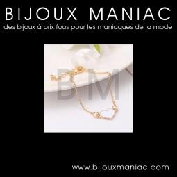 Bracelet Coeur Blanc