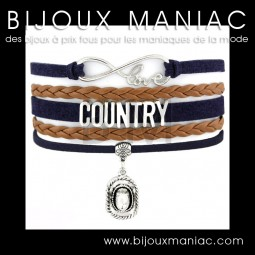 Bracelet multirang Love Country