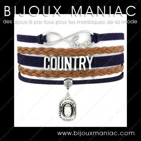 Bracelet multirang Love Country