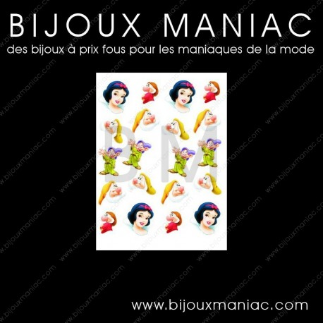 Déco ongle Blanche Neige