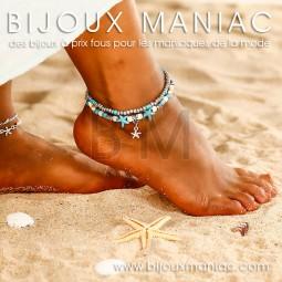 Bracelet cheville Mer