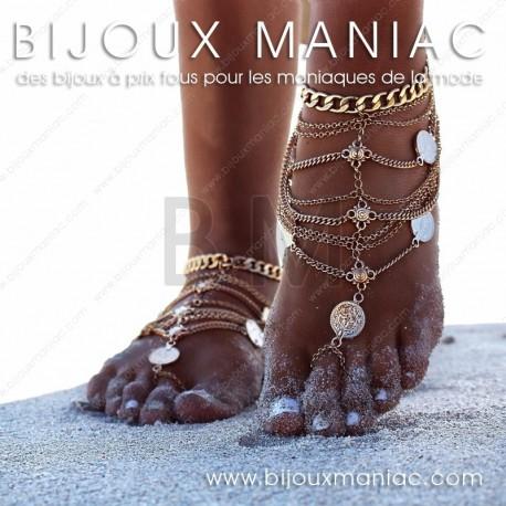 Bracelet cheville bohème chic Essaouira