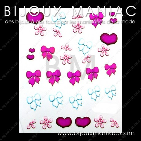 Déco ongle girly
