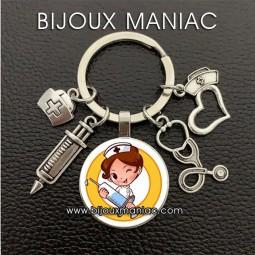 Porte-clefs infirmière