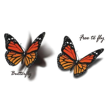 Tatoo 3D papillon