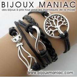 Bracelet multirang Chat Arbre de vie