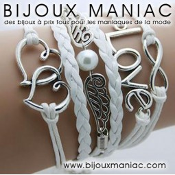 Bracelet multirang Love Coeurs Ailes
