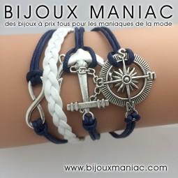 Bracelet multirang Marine Rose des vents