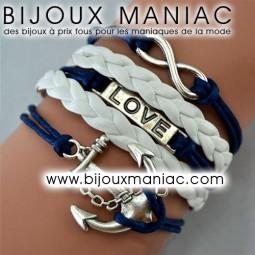 Bracelet multirang Marine Love